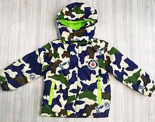 Куртка демисезонная детская на флисе eagle, фото 2
