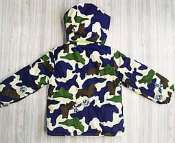 Куртка демисезонная детская на флисе eagle, фото 3