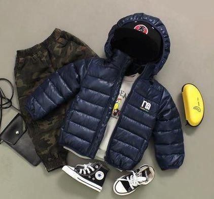 Куртка детская на мальчика  весна-осень темно-синяя 130 размер