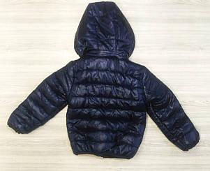 Куртка детская на мальчика  весна-осень темно-синяя 130 размер, фото 2