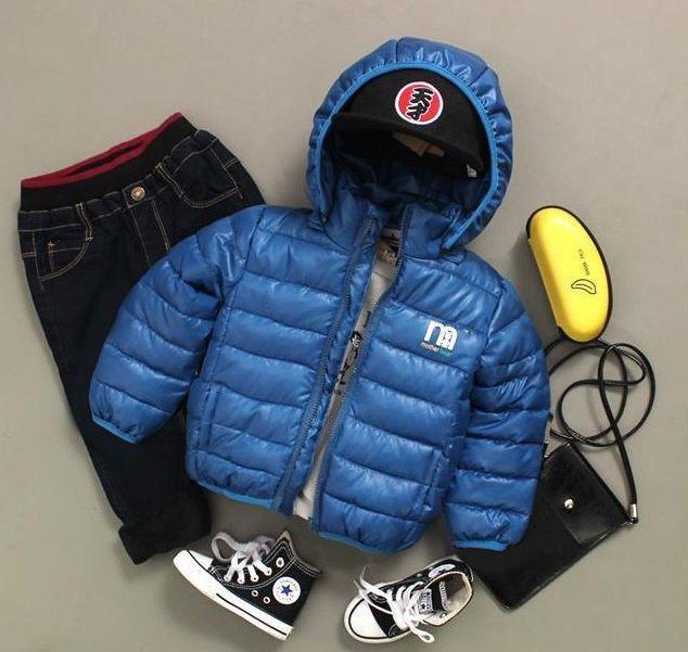 Куртка детская на мальчика весна-осень синяя