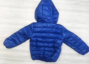Куртка детская на мальчика весна-осень синяя, фото 2