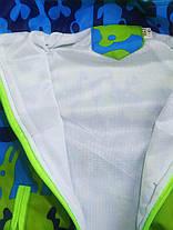 Ветровка для мальчиков сине-зеленая весна, фото 2