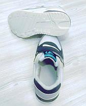 Кроссовки детские єко-замш серые, фото 2