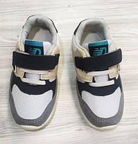 Кроссовки детские єко-замш серые, фото 3