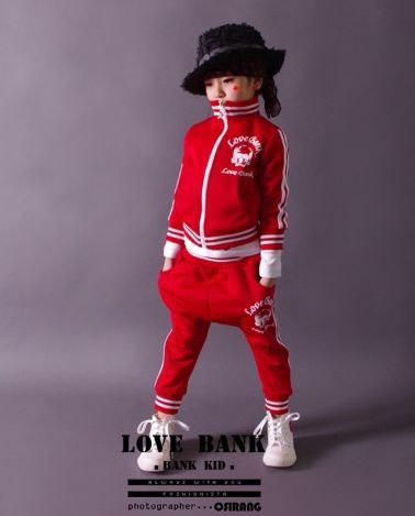 Спортивный костюм детский унисекс красный
