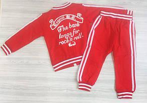 Спортивный костюм детский унисекс красный, фото 2