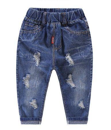 Джинсы детские рваные синие