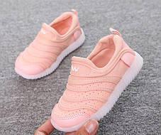 Кроссовки летние дышащие розовые LED, фото 2