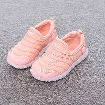 Кроссовки летние дышащие розовые LED, фото 3