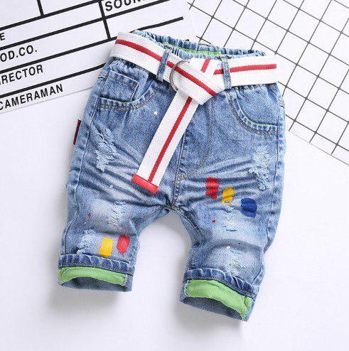 Бриджи для мальчиков джинсовые голубые