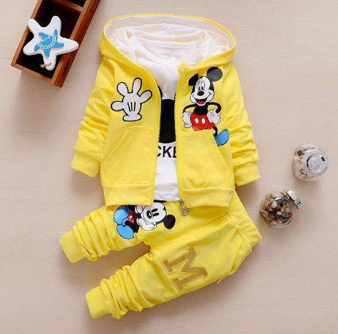Спортивный костюм тройка для мальчиков Mickey сжелтый