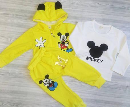 Спортивный костюм тройка для мальчиков Mickey сжелтый, фото 2