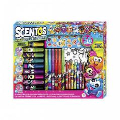 Ароматный набор для творчества - АРОМАТНОЕ АССОРТИ (ручки,маркеры,воск.карандаши,наклейки,раскраска)