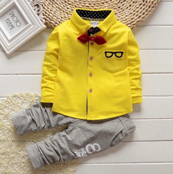Костюм для мальчиков glasses желтый