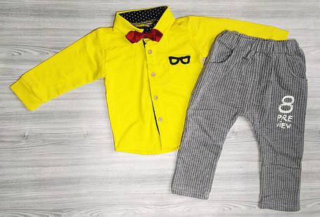 Костюм для мальчиков glasses желтый, фото 2