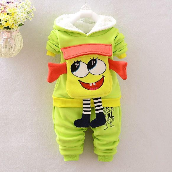 Утепленный костюм для мальчиков Губка Боб салатовый
