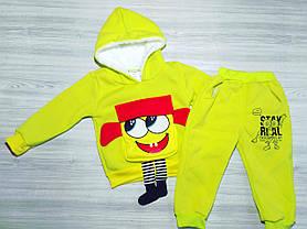 Утепленный костюм для мальчиков Губка Боб салатовый, фото 2