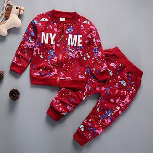 Спортивный костюм детский NY ME красный, фото 2