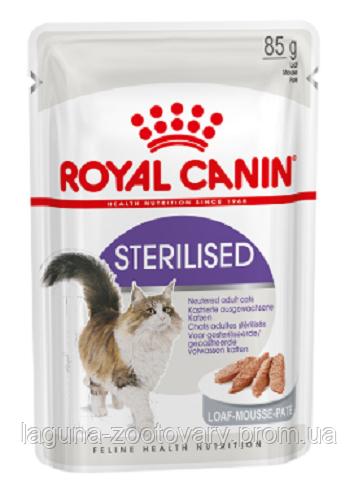 Влажный корм для взрослых стерилизованных кошек, 85гр, паштет/ Роял Канин FHN STERILIZED LOAF 85g