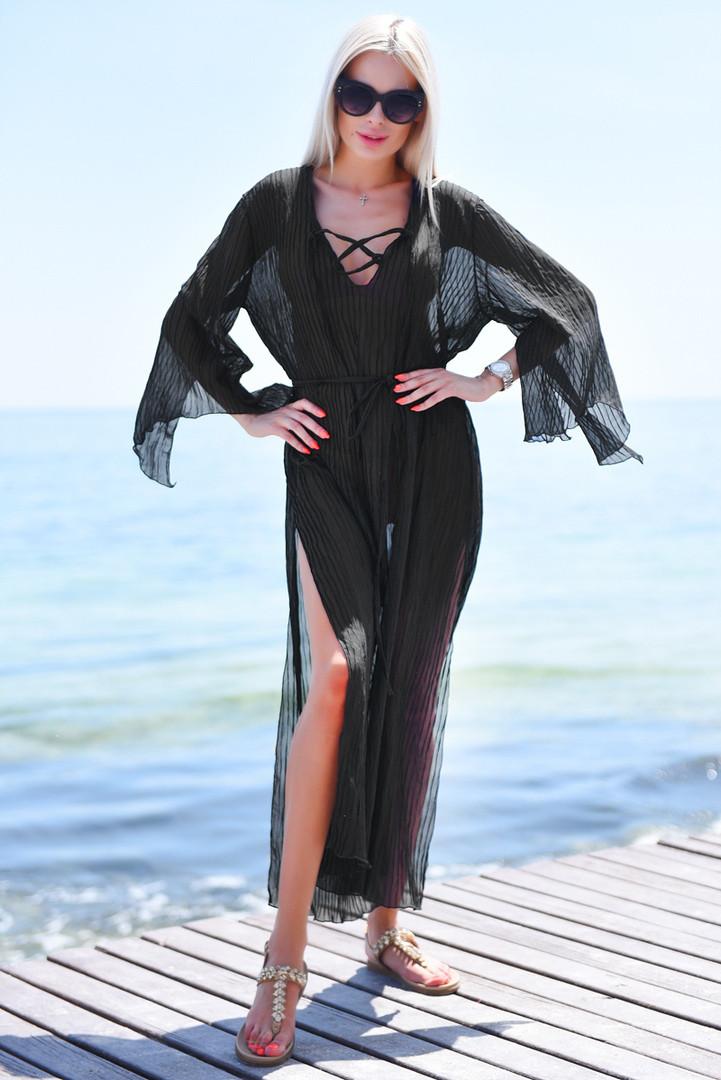 0679dd39ade62 Женская длинная пляжная туника шифон-гофре - купить по лучшей цене в ...
