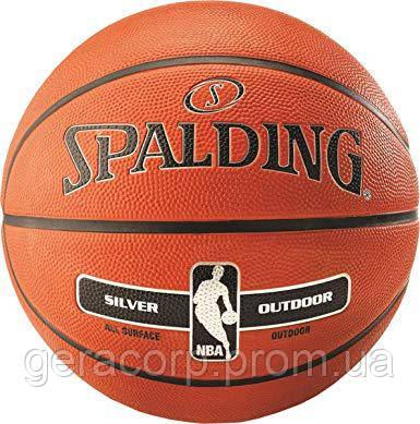 Мяч баскетбольный Spalding NBA Silver, фото 2