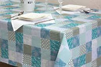 Ткань х/б напечатанная для столового белья ЛОСКУТОК синій