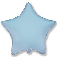 """Фольгований куля """"Зірка"""" блакитна 45 см, Flexmetal Іспанія"""