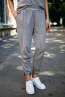 Серо-чёрные брюки CLOVER