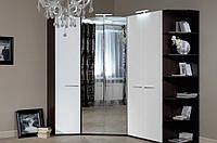 Шкаф угловой с зеркальным фасадом (18SM-05 A) и (18SM-05 В) для спальни Модерн