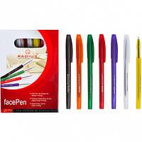 """Ручка """"FaсePen"""" 10цв. корпус RADIUS 50 штук, синяя"""