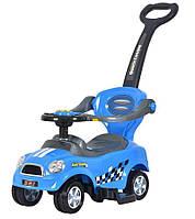 Машинка - толокар Z 321 с родительской ручкой, синяя