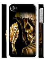Чехол для iPhone 4/4s/5/5s/5с  череп  карты