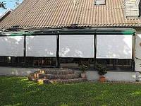 Наружные шторы от солнца и непогоды для терас и беседок Белый