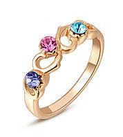 Кольцо женское сердечки