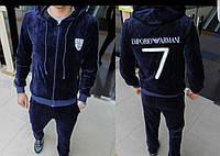 Мужской ТОПовый велюровый костюм Armani - высочайшее качество материала s-xxl
