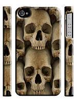 Чехол для iPhone 4/4s/5/5s/5с  череп кости черепа