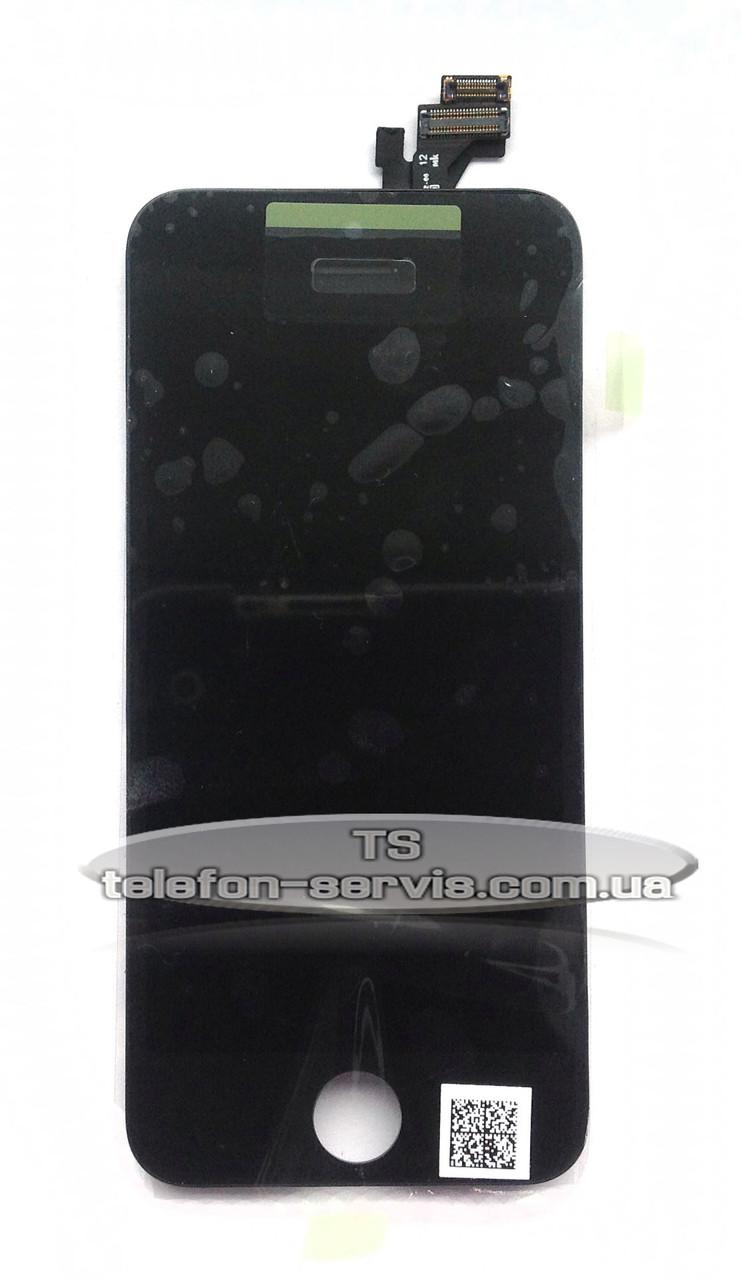 Дисплейный модуль Apple iphone 5, чёрный, оригинал