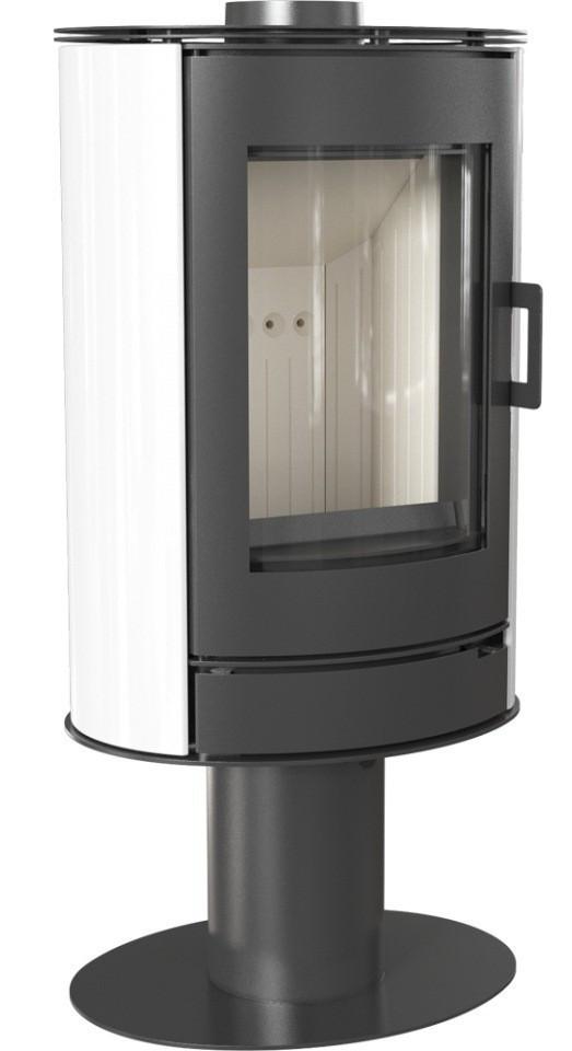 Отопительная печь Kratki Koza AB S/N/O (8 кВт) белый кафель
