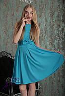 """Летнее модное платье """"Алиса""""  голубой, 44"""