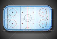 Хоккейная площадка из стеклопластика 30*60 м