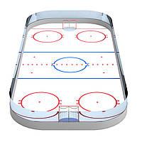 Корт хоккейный из стеклопластика 15*30 м