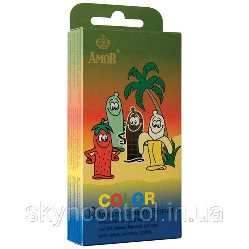 Презервативи Amor Color ЗОЛОТО 52мм. (1шт.) Кольорові презервативи з ароматом