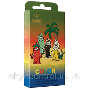 Презервативи Amor Color ЗОЛОТО 52мм. (1шт.) Кольорові презервативи з ароматом, фото 2