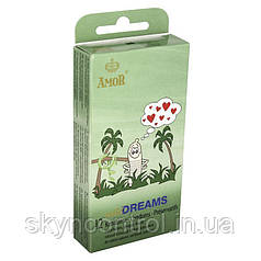 Презервативы Amor Wild Dreams (1шт.) ребристые Дикие мечты