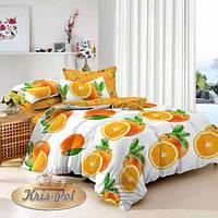 """Комплект постельного белья двуспальный, сатин 3D """"Апельсин"""""""