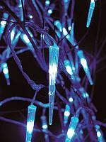 Гирлянда светодиодная сосульки string light, 100 led-диодов, длина 10 метров, коннектор, прорезиненный провод