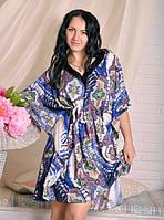 Стильное женское платье-туника из штапеля