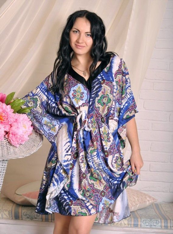 Стильное женское платье-туника из штапеля  продажа, цена в ... b46f6528ebf
