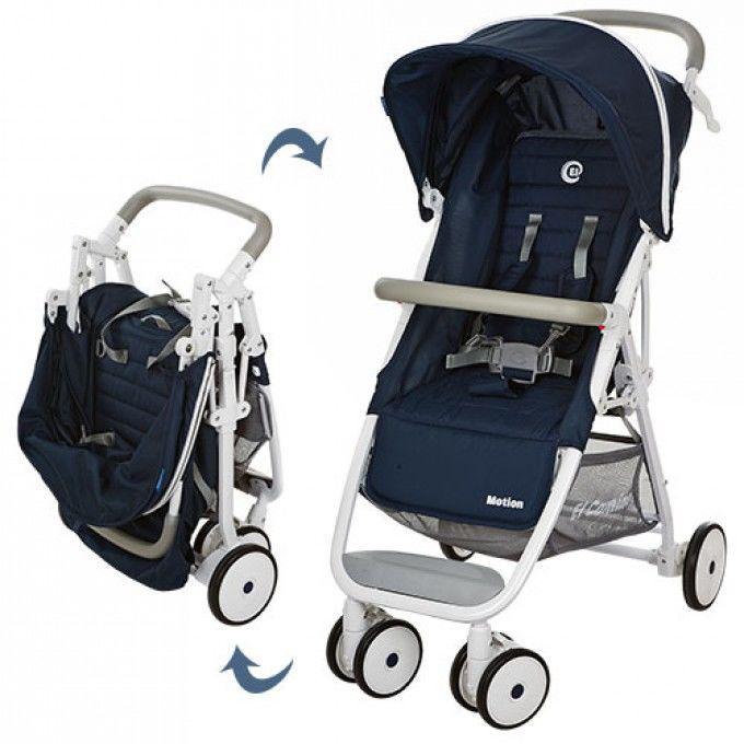 Детская прогулочная коляска Motion (M 3295-4) синяя
